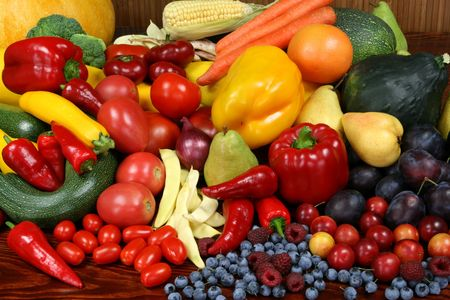 peppers: Delicious, colorful variety of fresh  fruits and vegetables