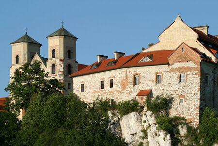 benedictine: Abad�a benedictina de Tyniec. Lugar de referencia de Cracovia, Polonia.