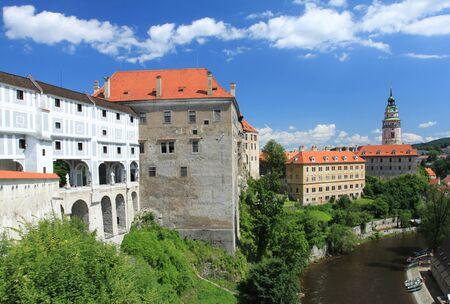 r�publique  tch�que: Cesky Krumlov - la vieille ville en R?publique tch?que, class?e au patrimoine de l'UNESCO Banque d'images