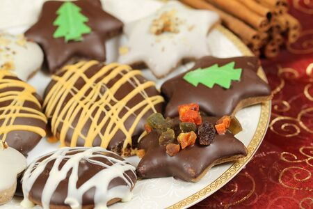 polish christmas gingerbread cookies traditional xmas sweets stock photo 7820534