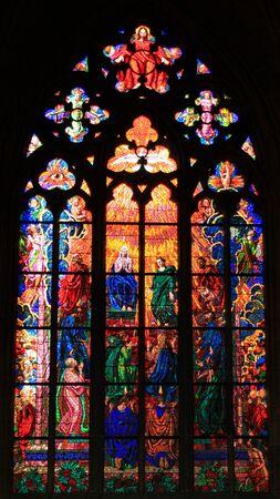 pfingsten: Pfingsten (auch genannt Whitsunday) abgebildet in St. Veitsdom in Prag, Tschechische Republik