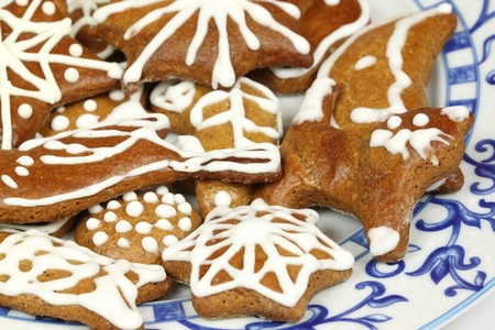 Traditional Christmas gingerbread cookies - Polish Xmas sweets Stock Photo - 7948821