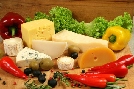 camembert: Variety of cheese: camembert, gouda, brie, parmesan,  sheep and other hard cheeses