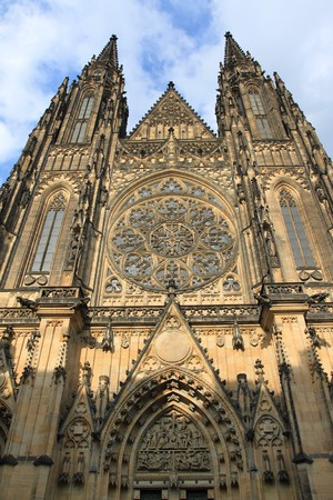 vitus: St. Vitus cathedral in Hradcany district of Prague, Czech Republic