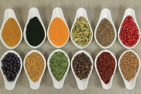 food additives: Cuisine ingredients - herbs and spices. Food additives.