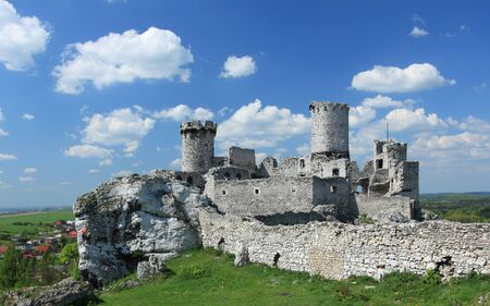 The old castle ruins of Ogrodzieniec fortifications, Poland.  photo