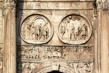 constantine: Triumphal arch - Arch of Constantine in Rome (Italy)