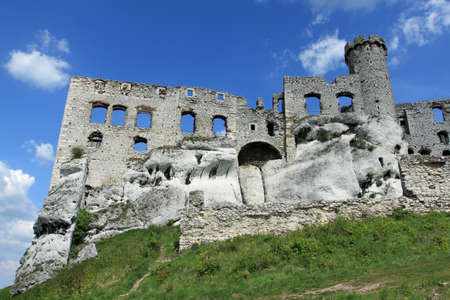 Ogrodzieniec castle - old ruin in Poland. Landmark in Europe. photo
