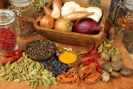 food additives:  Aromatic ingredients and natural food additives. Cuisine elements.