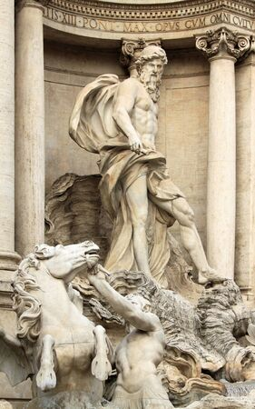Trevi Fountain (Fontana di Trevi) in Rome, Italy. One of the most famous landmarks. photo