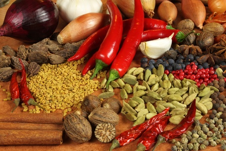 additives: Aromatic ingredients and natural food additives. Cuisine elements.