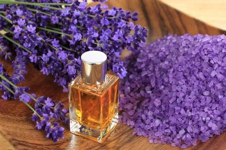 Lavendel samenstelling - spa & wellness resort. Stockfoto