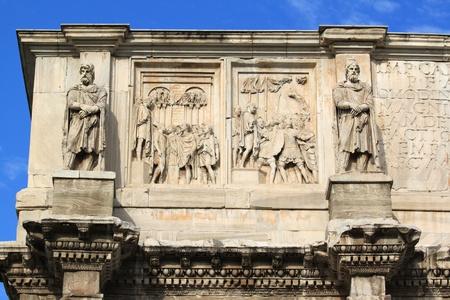 triumphal: Arch of Constantine (Arco Constantino) - Roman empire ancient landmark in Rome, Italy