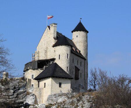 bobolice: The medieval, royal castle in Bobolice . Poland.