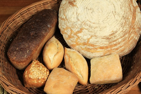 Different kinds of bread. Traditional baked  from Poland. photo