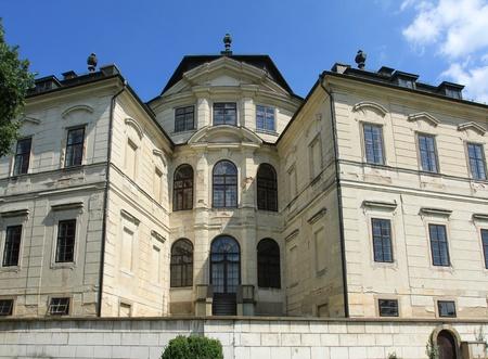 koruna: Architecture of Karlova Koruna castle in Chlumec. Czech Republic landmark