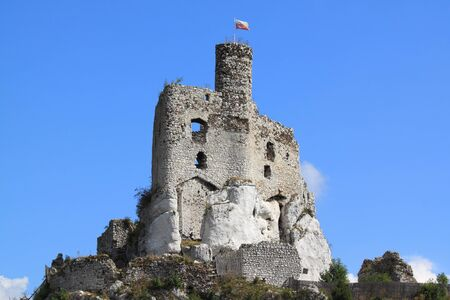 mirow: Mirow castle - old fortress in Poland. Landmark in Europe.