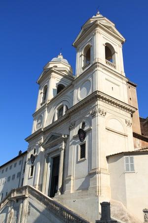 trinita: Rome, Italy - famous Trinita dei Monti, Renaissance titular church