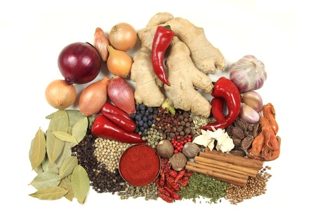additive: Food ingredients - herbs and spices. Culinary objects.