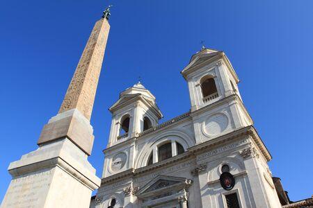 monti: Rome - famous Trinita dei Monti, Renaissance titular church