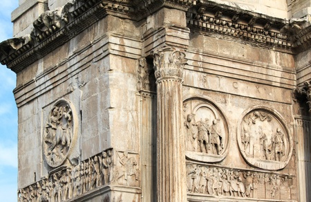 constantine: Arch of Constantine (Arco Constantino) - Roman empire ancient landmark in Rome, Italy