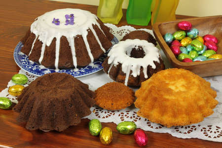 Variety of Easter cakes - traditional home made bakery in Poland photo