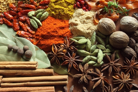 food additives: Herbs and spices selection. Aromatic ingredients and natural food additives.