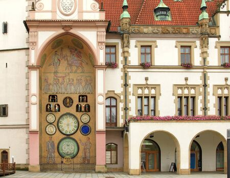 olomouc: Town Hall and astronomical clock of Olomouc, Czech Republic