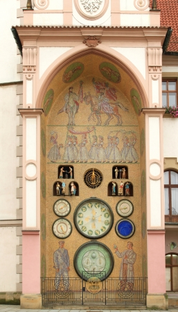 Astronomical clock of Olomouc, Czech Republic photo