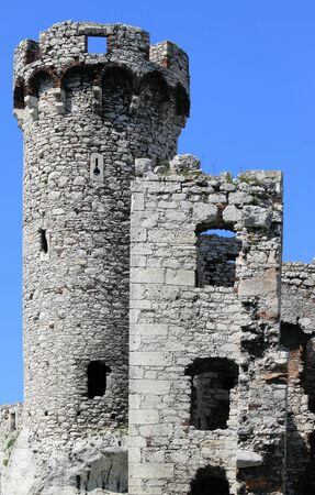 ogrodzieniec: The old castle ruins of Ogrodzieniec fortifications, Poland. Editorial