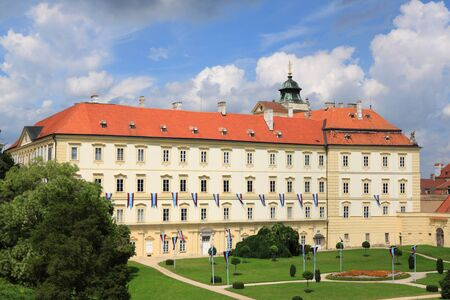 ornated: Valtice castle , South  Moravia. National Wine Center Czech Republic
