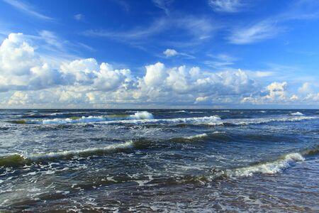 heaving: Beautiful View of seascape . Baltic sea Poland. Stock Photo