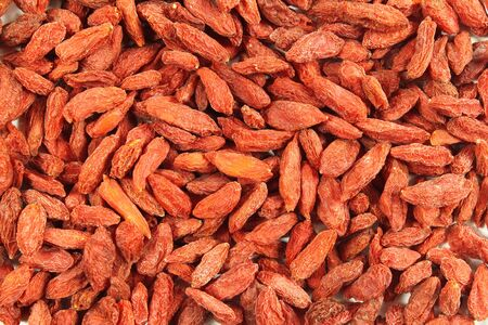 wolfberry: Background of dried red Tibetan goji berries (wolfberry)