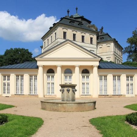 koruna: Czech Republic landmark - architecture of Karlova Koruna castle in Chlumec