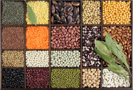 Beans, peas, lentils. Cuisine choice. Cooking ingredients. photo