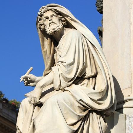 isaiah: Prophet Isaiah (Isaias) statue in Rome, Italy
