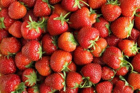 juicy: Background with fresh, juicy strawberries