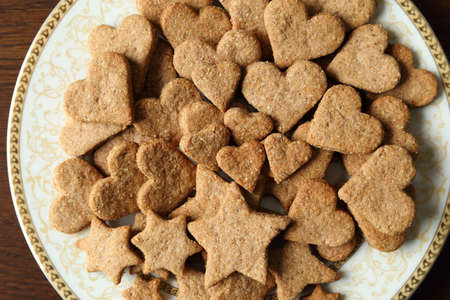 dietary: Dietary cookies with almonds, spelled and spices.