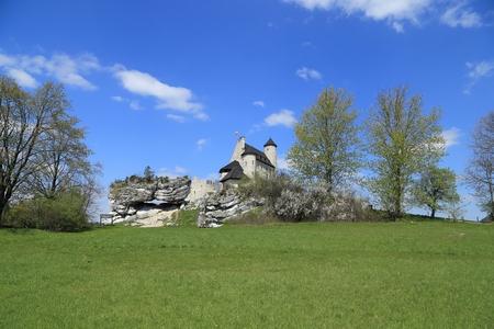 bobolice: Bobolice castle - old fortress in Poland. Landmark in Europe. Editorial