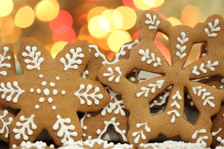 gingerbread cookies: Christmas homemade gingerbread cookies. Stock Photo