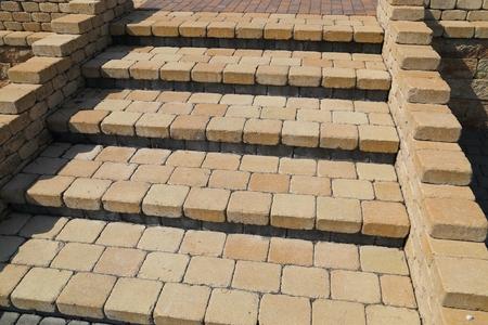 Sett blokkeert de achtergrondstructuur. Betegelde, kleurrijke, decoratieve trappen. Stockfoto