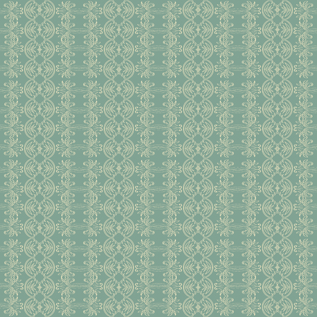 antique wallpaper: Seamless abstract green moroccan pattern decor background. Illustration