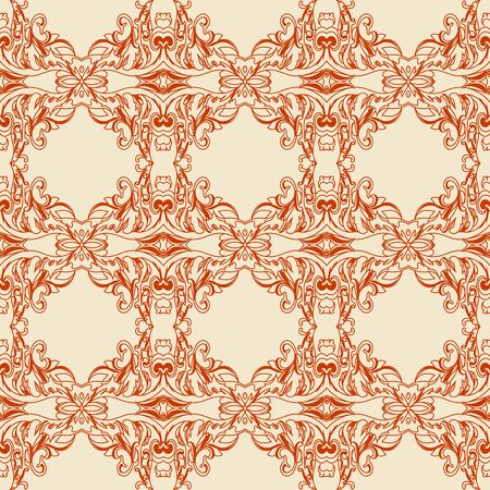 earthenware: Traditional Arabic ornament seamless. Floral Ornamental pattern. Vector background.