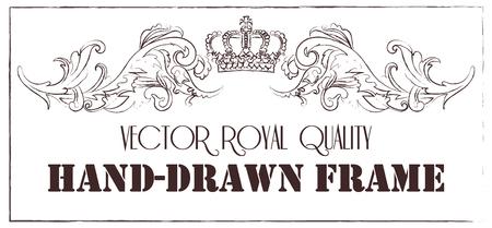 Prime cru baroque ornement cadre de défilement gravure bordure florale rétro modèle antique acanthe style feuillage swirl design décoratif filigrane calligraphie.