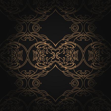 twenties: Art Deco hexagonal seamless vintage wallpaper pattern. Illustration
