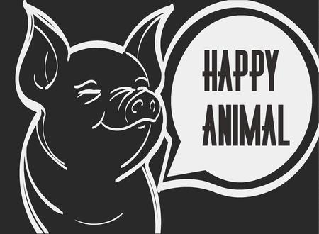 豚のベクター形式の画像です。手描きのベクトル図、eps 10。