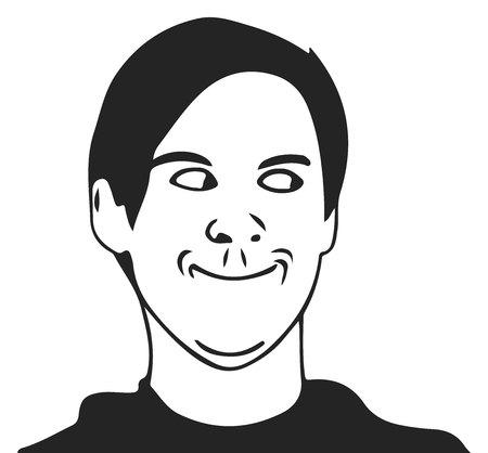 troll guy meme face for any design. Illustration