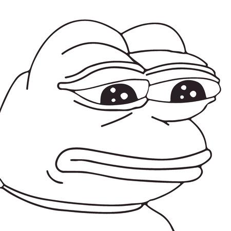 frog meme face for any design.  イラスト・ベクター素材