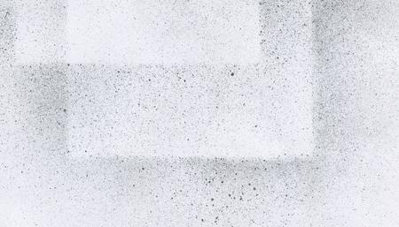 Zeer hoge resolutie. Behang met airbrush-effect. Zwarte acrylverfslagtextuur op Witboek. Verspreide modderkunst. Macro afbeelding. Met de hand gemaakt grunge. Stockfoto