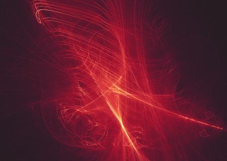 fond de conception de lumière fractale numérique rougeoyante abstraite